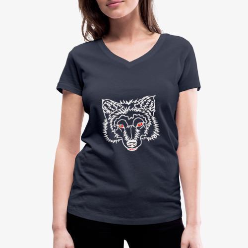 Wolkskopf - Frauen Bio-T-Shirt mit V-Ausschnitt von Stanley & Stella