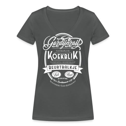 Koekblik - Vrouwen bio T-shirt met V-hals van Stanley & Stella