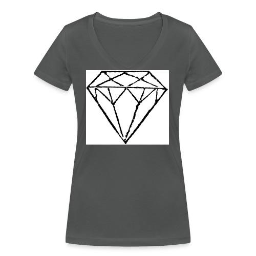 Diamond - Ekologisk T-shirt med V-ringning dam från Stanley & Stella