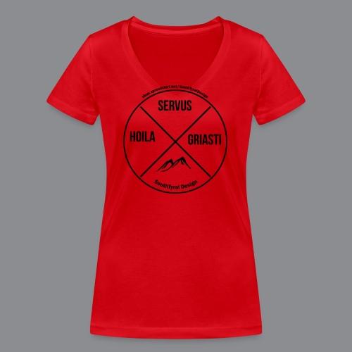Hoila Servis Griasti - Frauen Bio-T-Shirt mit V-Ausschnitt von Stanley & Stella