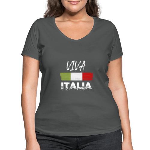 VIVA ITALIA - Women's Organic V-Neck T-Shirt by Stanley & Stella