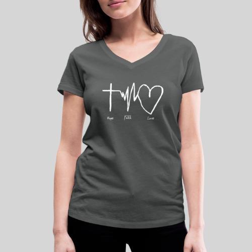 Hoffnung Glaube Liebe - hope faith love - Frauen Bio-T-Shirt mit V-Ausschnitt von Stanley & Stella