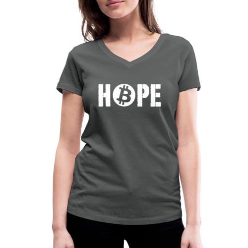 Black HOPE BTC - T-shirt bio col V Stanley & Stella Femme
