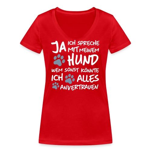 Vorschau: spreche mit meinem HUND - Frauen Bio-T-Shirt mit V-Ausschnitt von Stanley & Stella