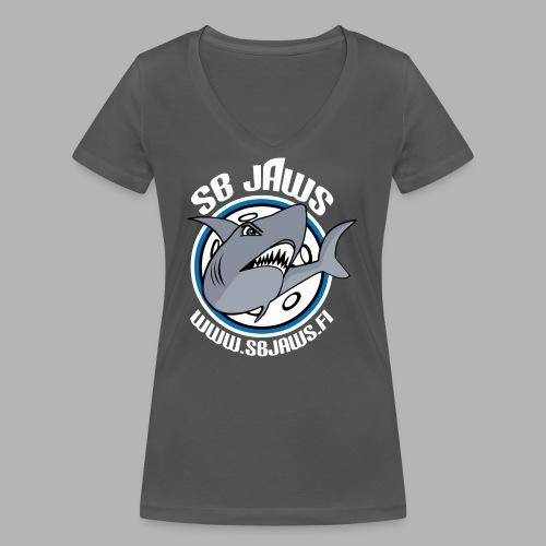 SB JAWS - Stanley & Stellan naisten v-aukkoinen luomu-T-paita
