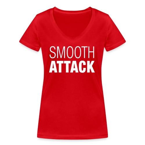 Smooth Attack neg png - Frauen Bio-T-Shirt mit V-Ausschnitt von Stanley & Stella