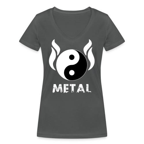 YIN YANG METAL - Frauen Bio-T-Shirt mit V-Ausschnitt von Stanley & Stella