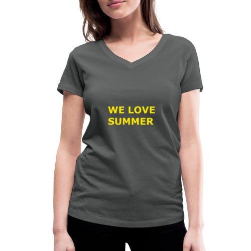 we love summer - Frauen Bio-T-Shirt mit V-Ausschnitt von Stanley & Stella