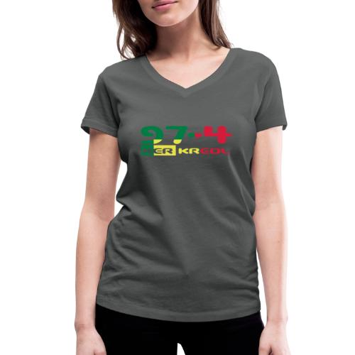 Logo 974 ker kreol VJR, rastafari - T-shirt bio col V Stanley & Stella Femme