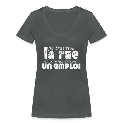 #TraverseLaRueCommeManu - T-shirt bio col V Stanley & Stella Femme