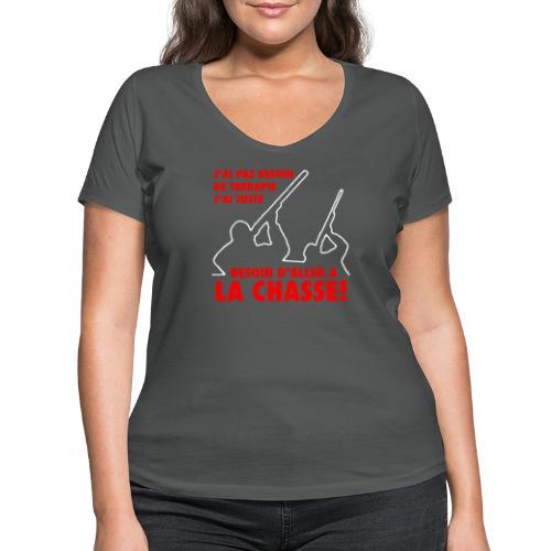 J'ai pas besoin de thérapie... - T-shirt bio col V Stanley & Stella Femme