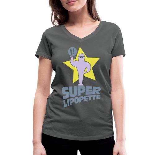 SUPER LIPOPETTE - T-shirt bio col V Stanley & Stella Femme
