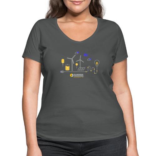 Erneuerbare Weiß - Frauen Bio-T-Shirt mit V-Ausschnitt von Stanley & Stella