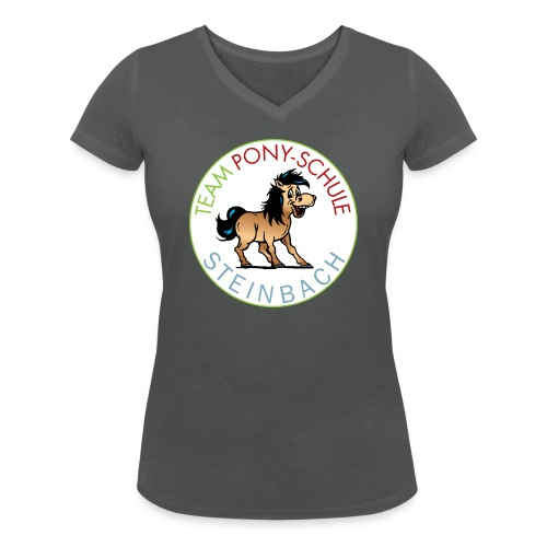 TeamPonySchule Steinbach png - Frauen Bio-T-Shirt mit V-Ausschnitt von Stanley & Stella