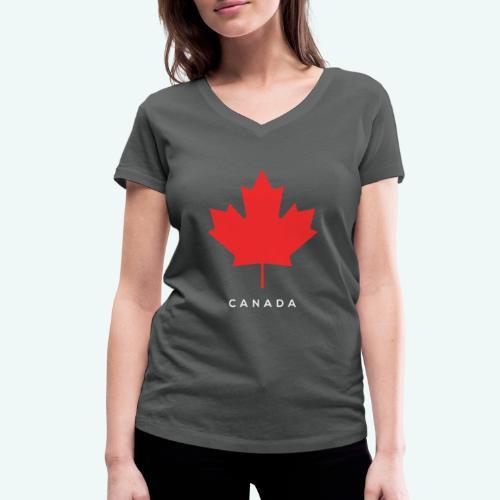 Canada-Lover - Frauen Bio-T-Shirt mit V-Ausschnitt von Stanley & Stella