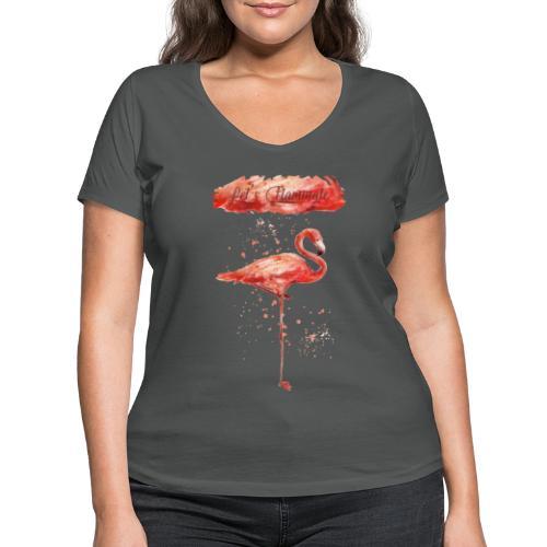 Flamingo - Camiseta ecológica mujer con cuello de pico de Stanley & Stella