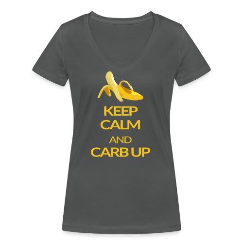 KEEP CALM and CARB UP - Frauen Bio-T-Shirt mit V-Ausschnitt von Stanley & Stella