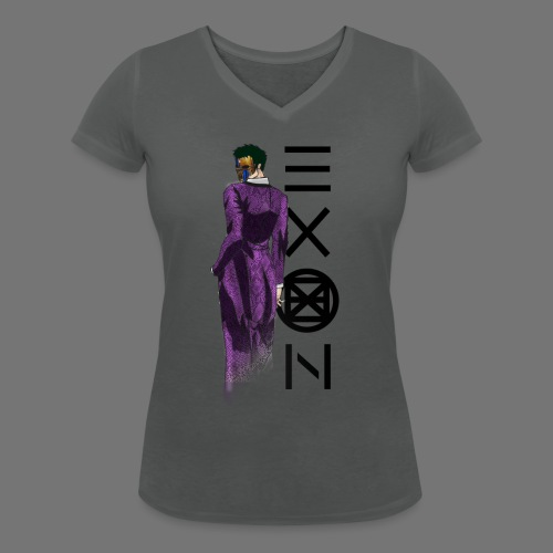 Emotionless Passion Exon - Women's Organic V-Neck T-Shirt by Stanley & Stella