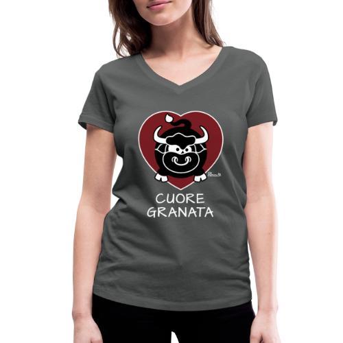 Torino Cuore Granata, Football Club, Calcio Italia - T-shirt bio col V Stanley & Stella Femme