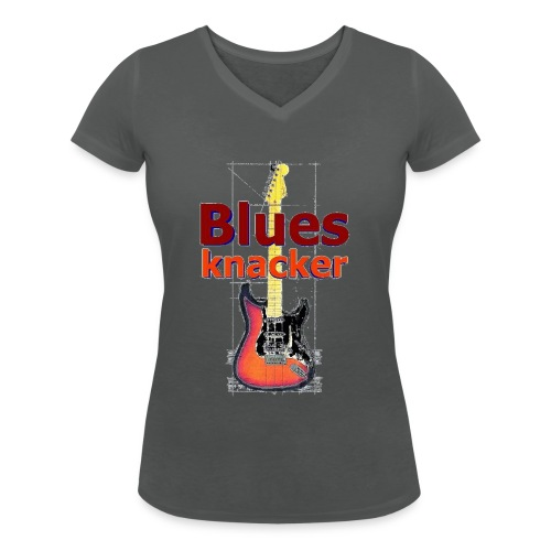 bk transpbig - Frauen Bio-T-Shirt mit V-Ausschnitt von Stanley & Stella