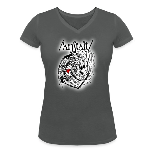 wesen mit herz und logo - Frauen Bio-T-Shirt mit V-Ausschnitt von Stanley & Stella