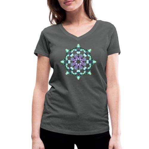 Yoga Mandala Symbol grün - Frauen Bio-T-Shirt mit V-Ausschnitt von Stanley & Stella