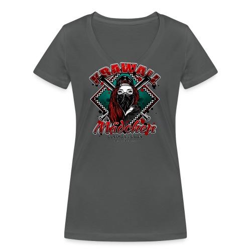 Krawallmädchen - Frauen Bio-T-Shirt mit V-Ausschnitt von Stanley & Stella