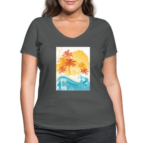 Palm Beach - Women's Organic V-Neck T-Shirt by Stanley & Stella