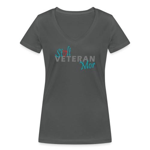 StoltVeteranMor - Økologisk Stanley & Stella T-shirt med V-udskæring til damer