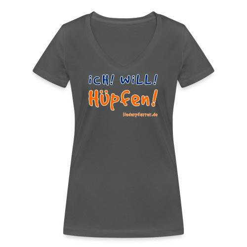 Ich! Will! Hüpfen! - Frauen Bio-T-Shirt mit V-Ausschnitt von Stanley & Stella