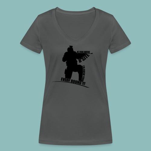 I'd rush you - Black Version - Frauen Bio-T-Shirt mit V-Ausschnitt von Stanley & Stella