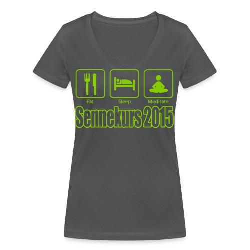 Sennekurs 2015 - Frauen Bio-T-Shirt mit V-Ausschnitt von Stanley & Stella