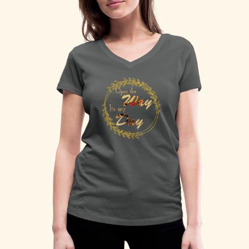 its my day weddingcontest - Women's Organic V-Neck T-Shirt by Stanley & Stella