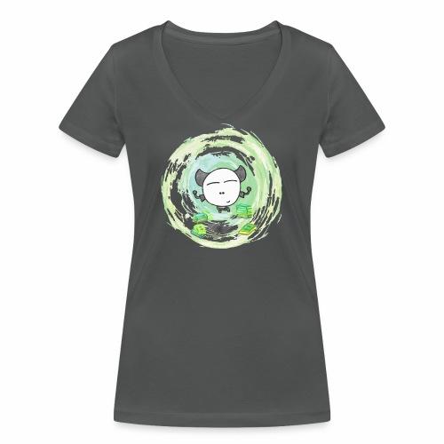 Omm - Kleines Monster - Frauen Bio-T-Shirt mit V-Ausschnitt von Stanley & Stella