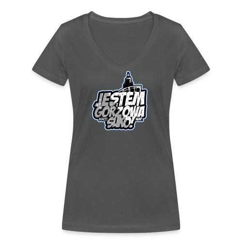 Jestem-Z-Gorzowa-Suko! - Ekologiczna koszulka damska z dekoltem w serek Stanley & Stella