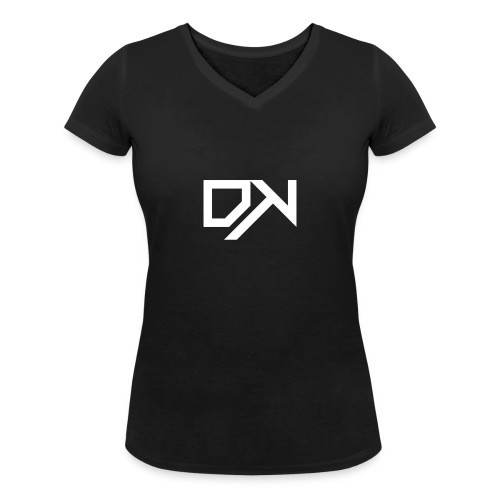 DewKee Logo Shirt Black - Women's Organic V-Neck T-Shirt by Stanley & Stella