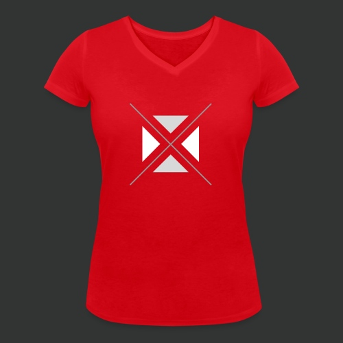 hipster triangles - Women's Organic V-Neck T-Shirt by Stanley & Stella