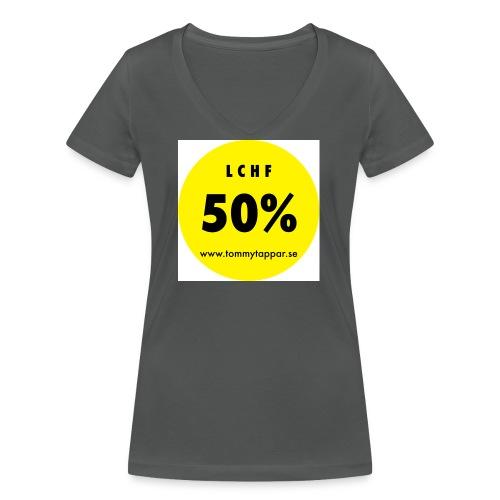 knapp 50 3 - Ekologisk T-shirt med V-ringning dam från Stanley & Stella