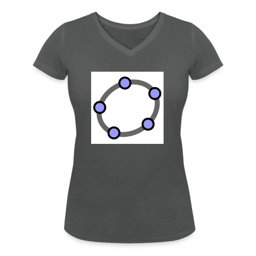 GeoGebra Ellipse - Women's Organic V-Neck T-Shirt by Stanley & Stella