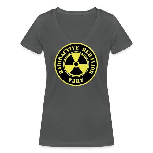 Radioactive Behavior - Camiseta ecológica mujer con cuello de pico de Stanley & Stella