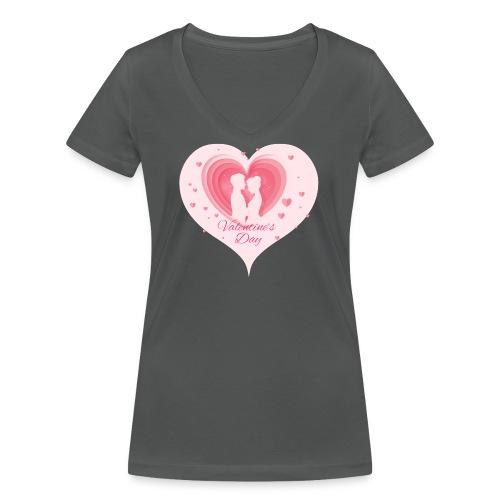 Valentinstag - Frauen Bio-T-Shirt mit V-Ausschnitt von Stanley & Stella