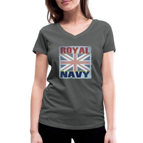 ROYAL NAVY - Women's Organic V-Neck T-Shirt by Stanley & Stella