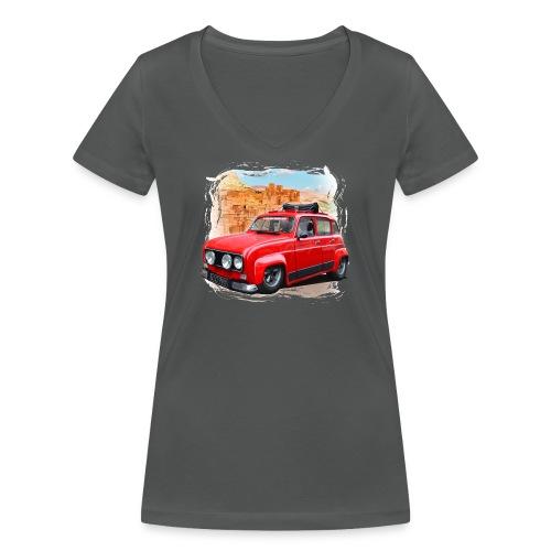 R4 4L prête au départ pour le Raid dans le désert - T-shirt bio col V Stanley & Stella Femme