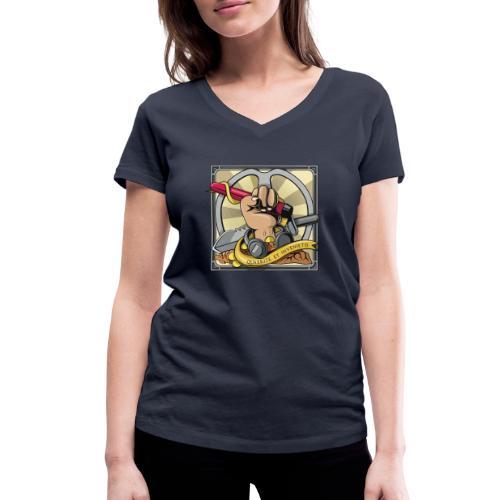 Quaerite et invenietis - Camiseta ecológica mujer con cuello de pico de Stanley & Stella
