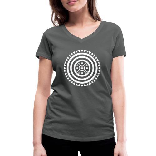 Estela de Cantabria blanca - Camiseta ecológica mujer con cuello de pico de Stanley & Stella