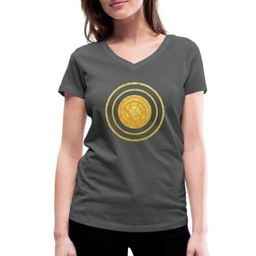 Glückssymbol Sonne - positive Schwingung - Spirale - Frauen Bio-T-Shirt mit V-Ausschnitt von Stanley & Stella