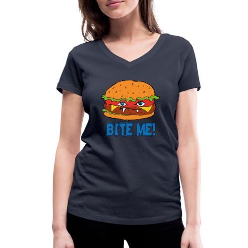 Bite me! - T-shirt ecologica da donna con scollo a V di Stanley & Stella