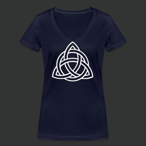 Celtic Knot — Celtic Circle - Women's Organic V-Neck T-Shirt by Stanley & Stella