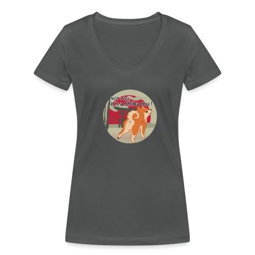 it´s a shiba inu - Frauen Bio-T-Shirt mit V-Ausschnitt von Stanley & Stella
