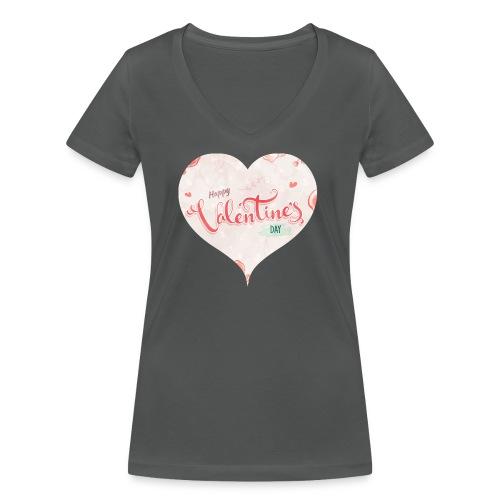 Happy Valentinesday - Frauen Bio-T-Shirt mit V-Ausschnitt von Stanley & Stella